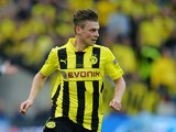 Borussia Dortmund's Lukasz Piszczek in action against Bayern Munich during the Champions League final on May 25, 2013