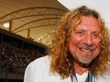 Rock legend Robert Plant seen on the grid before the Bahrain Formula One Grand Prix at the Bahrain International Circuit on April 26, 2009