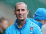 Stuart Lancaster, the England head coach looks on during the England captain's run at Twickenham Stadium on November 8, 2013