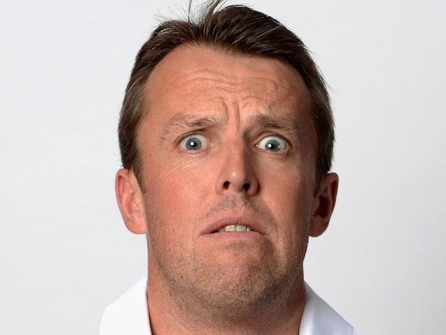 England spin bowler Graeme Swann pulls a funny face during a headshots    Graeme Swann 2013
