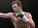 Andy Lee, of Limerick, Ireland, punches, during his 6th round Middleweight bout against Dennis Sharpe of Bayonne on November 11, 2006
