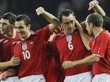 England celebrate John Terry's winning goal against Germany on November 19, 2008.