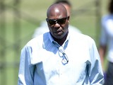General manager Ozzie Newsome after a practice during the Baltimore Ravens rookie camp on May 5, 2013