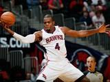 Atlanta Hawks' Paul Millsap in action against San Antonio Spurs on October 17, 2013