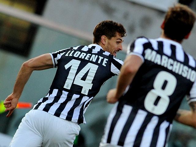 Juventus  Fernando Llorente celebrates after scoring the opening goal    Fernando Llorente Juventus Goal