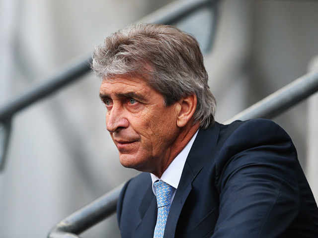Man City manager Manuel Pellegrini prior to kick-off against Tottenham on November 24, 2013