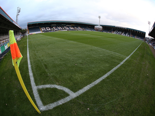 A general view of Spotland Stadium prior to the Sky Bet League Two match between Rochdale and Northampton Town at Spotland Stadium on October 22, 2013