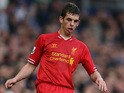 Jon Flanagan of Liverpool in action during the Barclays Premier League match between Everton and Liverpool at Goodison Park on November 23, 2013