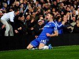 Gary Cahill of Chelsea celebrates as he scores their first goal during the B