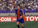 Michael Laudrup in possession for Barcelona on January 01, 1992.