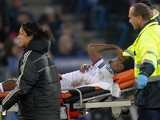 Chelsea's Cameroonian striker Samuel Eto'o is brought of the field in a stretcher after being injured during the UEFA Champions League group E football match against Basel on November 26, 2013