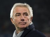 Hamburg's Dutch head coach Bert van Marwijk gestures prior to the German first division Bundesliga football match VfL Wolfsburg vs Hamburger SV in Wolfsburg on November 29, 2013