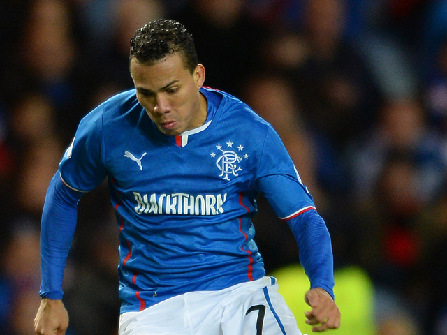 Arnold Peralta of Rangers during the The William Hill Scottish Cup Third Round match at Ibrox Stadium on November 1, 2013