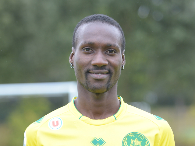 Nantes' Guinean striker Ismael Bangoura poses at 'La Joneliere' , the football club's headquarters in La Chapelle-sur-Erdre, Nantes' suburb on September 17, 2013