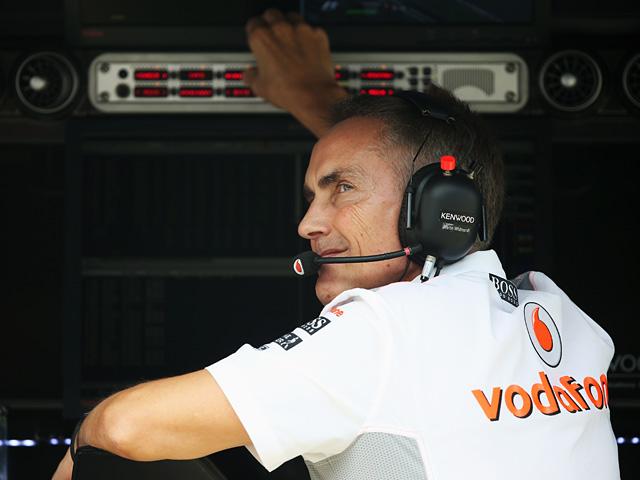 McLaren team principal Martin Whitmarsh during a practise session on October 25, 2013