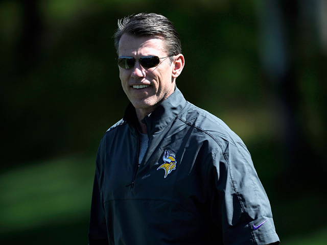 Minnesota Vikings general manager Rick Spielman during a rookie minicamp on May 4, 2012