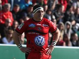 Andrew Sheridan of Toulon looks on during the Heineken Cup quarter final match between Toulon and Leicester Tigers at Felix Mayol Stadium on April 7, 2013