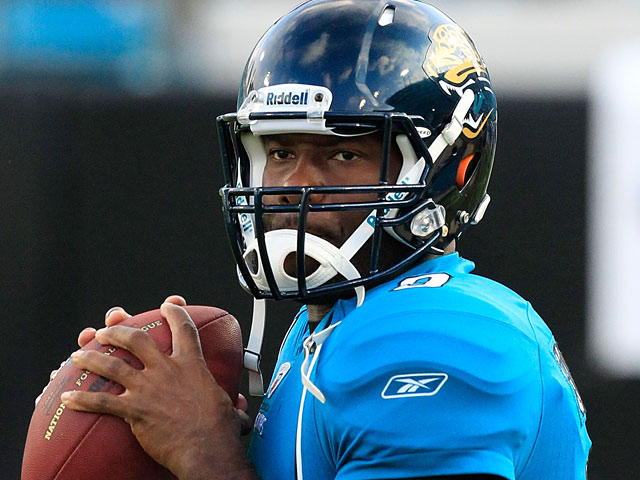 Jacksonville Jaguars' David Garrard during a warmup prior to the game against St. Louis Rams on September 1, 2011