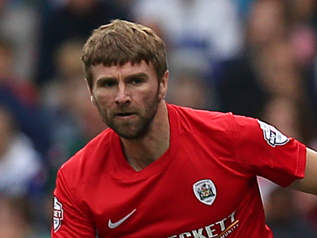 Paddy McCourt of Barnsley during the Sky Bet Championship match between Queens Park Rangers and Barnsley on October 5, 2013