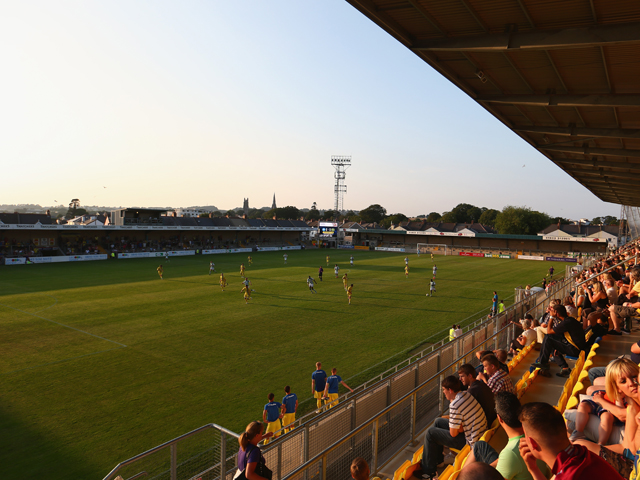 General stadium view during the Pre Season Friendly match between Torquay United and Yeovil Town at Plainmoor Ground on July 16, 2013