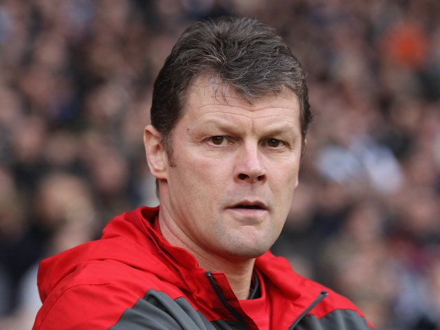 Steve Cotterill stands on the touchline during his stint as Nottingham Forest on January 17, 2012.