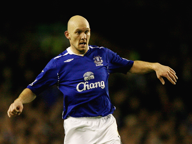 Thomas Gravesen of Everton in action during the Barclays Premier League match between Everton and Bolton Wanderers at Goodison Park on December 26, 2007