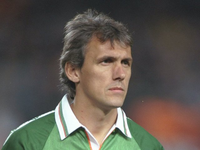 Tony Cascarino in action for the Republic of Ireland on October 09, 1996.