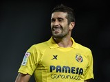 Cani of Villarreal reacts as he fails to score during the La Liga match between Elche CF and Villarreal CF at Estadio Manuel Martinez Valero on November 4, 2013