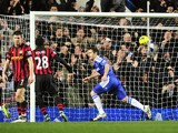 Chelsea's English midfielder Frank Lampard celebrates scoring a penalty goal during their English Premier League football match against Manchester City at Stamford Bridge in London, on December 12, 2011