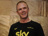 Tour de France winner Chris Froome gives a press conference on November 19, 2013