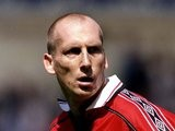 Jaap Stam in action for Manchester United against Arsenal on August 09, 1998.