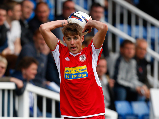 Connor Mahoney of Accrington in action during the Sky Bet League Two match between Hartlepool United and Accrington Stanley at Victoria Park on September 14, 2013