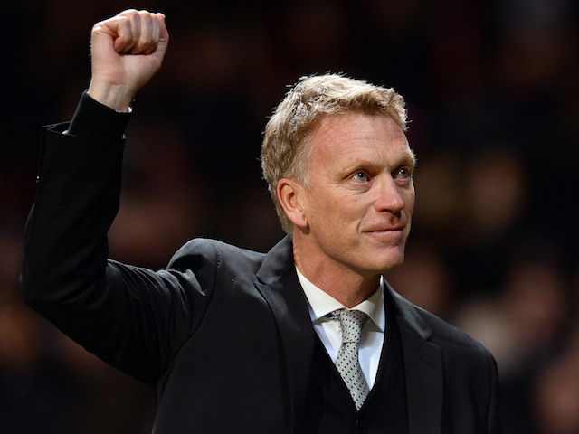 Manchester United's Scottish manager David Moyes leaves the field after the UEFA Champions League football match between Manchester United and Shakhtar Donetsk at Old Trafford on December 10, 2013