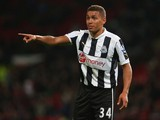 James Tavernier of Newcastle United during the Capital One Cup Third Round match between Manchester United and Newcastle United at Old Trafford on September 26, 2012