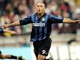 Ronaldo celebrates scoring for Inter Milan on September 20, 1998.