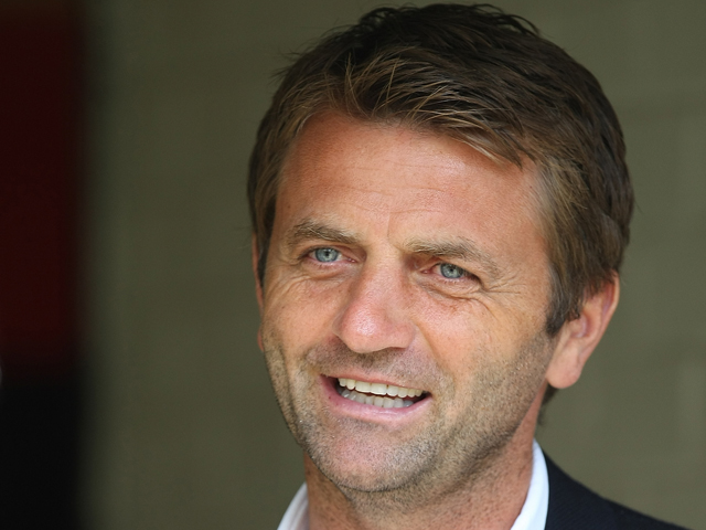 Tottenham Hotspur assistant first team coach Tim Sherwood looks on prior to the pre-season friendly match between Watford and Tottenham Hotspur at Vicarage Road on August 5, 2012