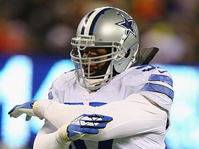 Dallas Cowboys' Jason Hatcher in action against New York Giants on November 24, 2013