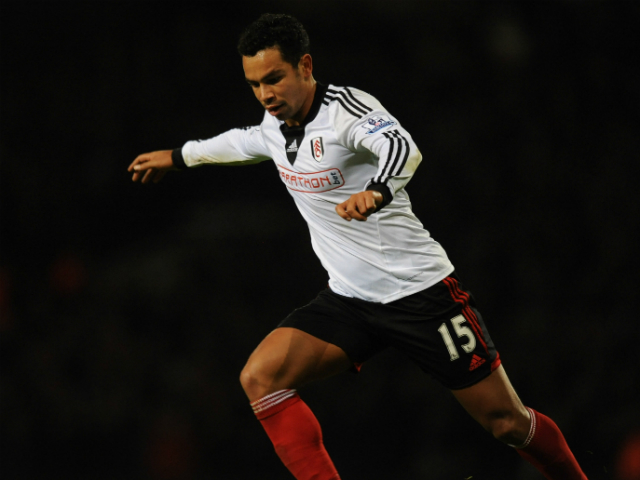 Kieran Richardson of Fulham in action during the Barclays Premier League match between West Ham United and Fulham at Boleyn Ground on November 30, 2013