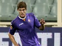 Fiorentina's Marcos Alonso in action against Pacos de Ferreira during their Europa League group match on September 19, 2013