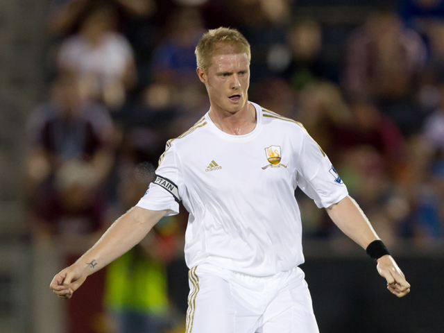Alan Tate #5 of Swansea City in action against the Colorado Rapids at Dick's Sporting Goods Park on July 24, 2012