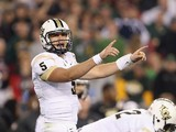 Quarterback Blake Bortles #5 of the UCF Knights prepares to snap the football during the Tostitos Fiesta Bowl against the Baylor Bears at University of Phoenix Stadium on January 1, 2014