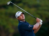 Brian Stuard plays a shot on the 15th hole during the second round of the Sony Open in Hawaii at Waialae Country Club on January 10, 2014