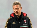 Keisuke Honda of AC Milan prior to the Serie A match between US Sassuolo Calcio and AC Milan on January 12, 2014