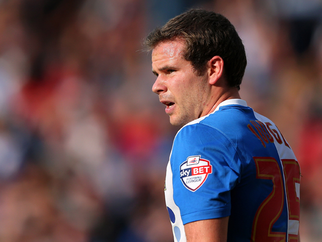Alan Judge of Blackburn Rovers during the Sky Bet Championship match between Blackburn Rovers and Huddersfield Town at Ewood Park on September 21, 2013