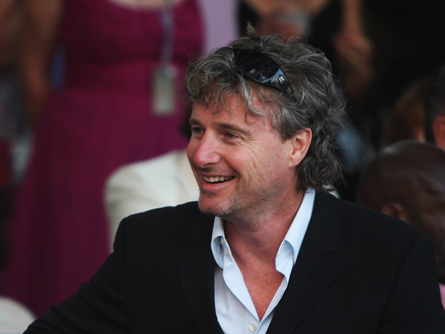 Former F1 driver Eddie Irvine attends the Amber Fashion Show and Auction held at the Meridien Beach Plaza on May 23, 2008