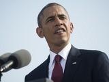 President Barack Obama speaks during a ceremony in observance of the terrorist attacks of 9/11 on September 11, 2013