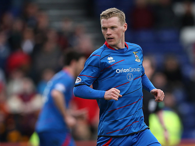 Inverness' Billy McKay in action against Motherwell during their Scottish Premier League match on May 4, 2013