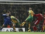 Adam Drury heads an equaliser for Norwich City against Middlesbrough on January 22, 2005.