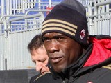 The coach of Milan Clarence Seedorf during the Serie A match between Cagliari Calcio and AC Milan at Stadio Sant'Elia on January 26, 2014
