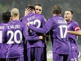 Josip Ilicic of ACF Fiorentina celebrates after scoring a goal during the TIM Cup match between AC Siena and ACF Fiorentina at Artemio Franchi on January 23, 2014